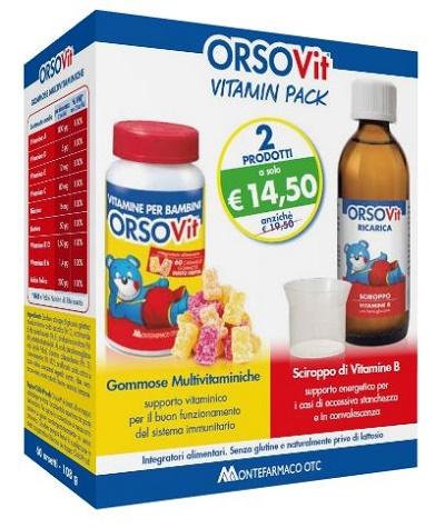 Montefarmaco Otc Orsovit Vitamin Pack 60 Caramelle Gommose + Sciroppo 150 Ml