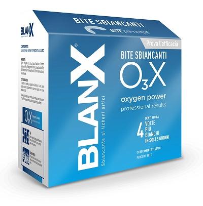 Coswell Linea Denti Blanx O3x Bite Sbiancanti 10 Pezzi Da 0,4 G