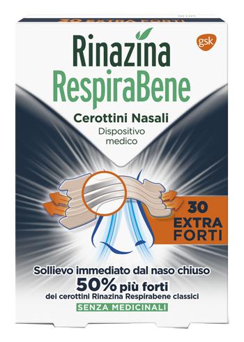 Glaxosmithkline C.health. Rinazina Respirabene Cerottino Extra Forte 30 Pezzi