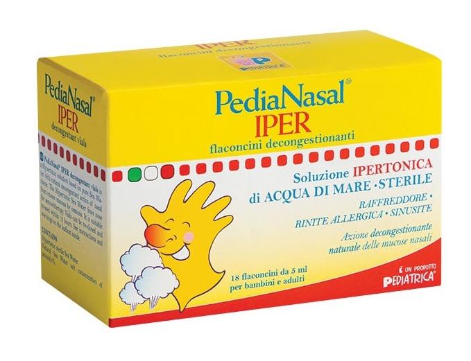 Pediatrica Pedianasal Iper Soluzione Ipertonica 18 Fiale Da 5 Ml