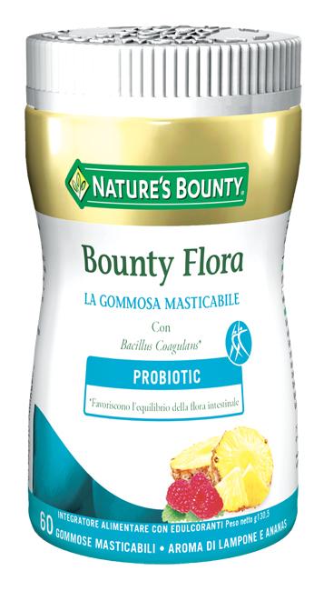 Nature's Bounty Bounty Flora 60 Gommose Masticabili con Probiotici
