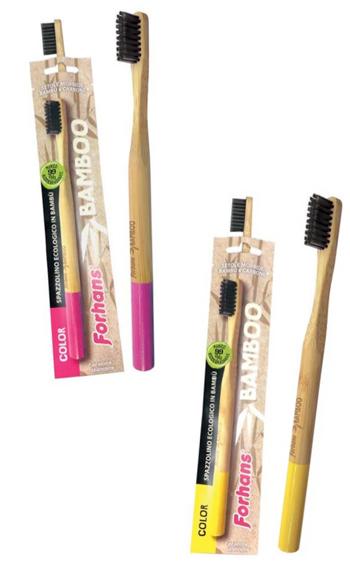 Uragme Spazzolino Ecologico Forhans Bamboo Color