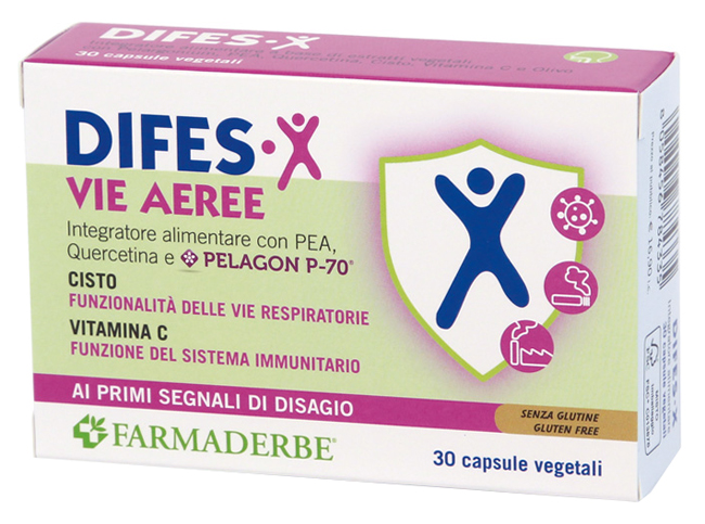 Farmaderbe Difes-x Vie Aeree 30 Capsule con quercetina