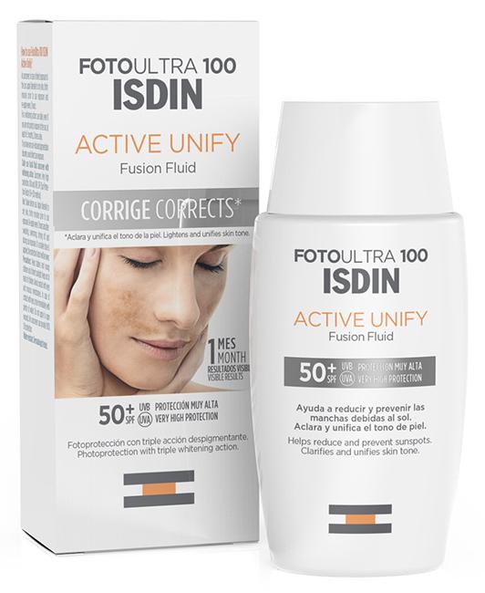 Isdin Fotoultra Active Unify Fusion Fluid Protezione 100
