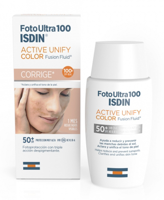 Isdin Fotoultra Active Unify Color Fusion Fluid Protezione 100