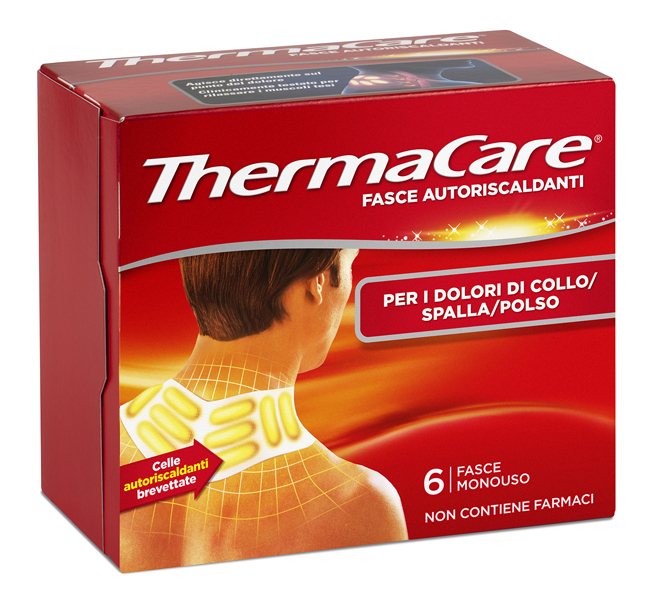 Thermacare Fasce Autoriscaldanti A Calore Terapeutico Collo spalla polso 6 Pezzi