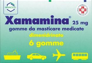 Xamamina 25 Mg Gomme Da Masticare Medicate 6 Gomme