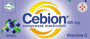 Cebion 500 500 Mg Compresse Masticabili 20 Compresse Masticabili Al Mirtillo
