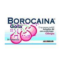 Borocaina Gola 1,5 Mg Compresse Orosolubili Gusto Ciliegia 20 Compresse