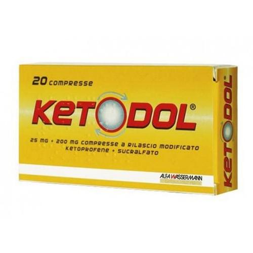 Ketodol 25 Mg + 200 Mg Compresse 20 Compresse