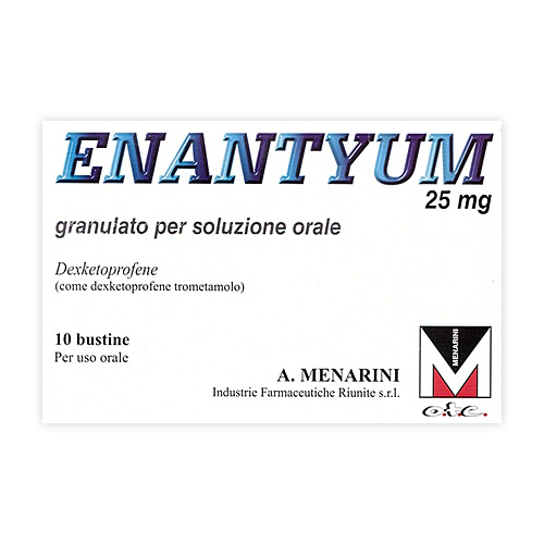 Enantyum 25 Mg Granulato Per Soluzione Orale 10 Bustine Al/Pe Monodose