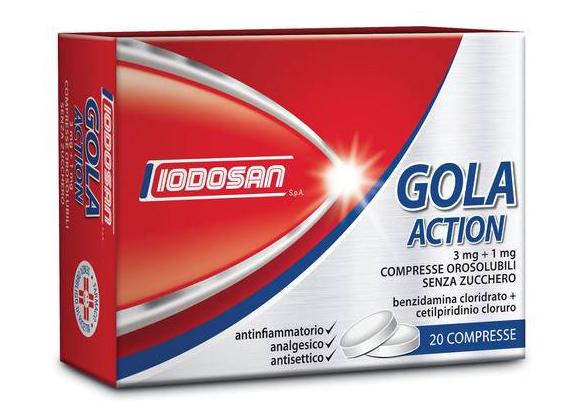 Gola Action 3 Mg+1 Mg Compresse Orosolubili Senza Zucchero 20 Compresse