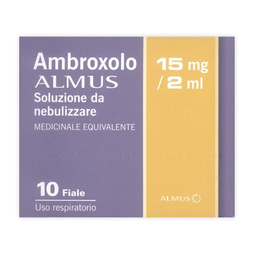Ambroxolo Alm 15 Mg/2 Ml Soluzione Da Nebulizzare 10 Fiale Da 15 Ml