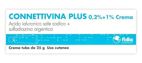 Connettivina Plus 0,2% + 1% Crema Tubo 25 G