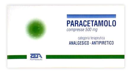 Paracetamolo Zeta 500 Mg Compresse 20 Compresse
