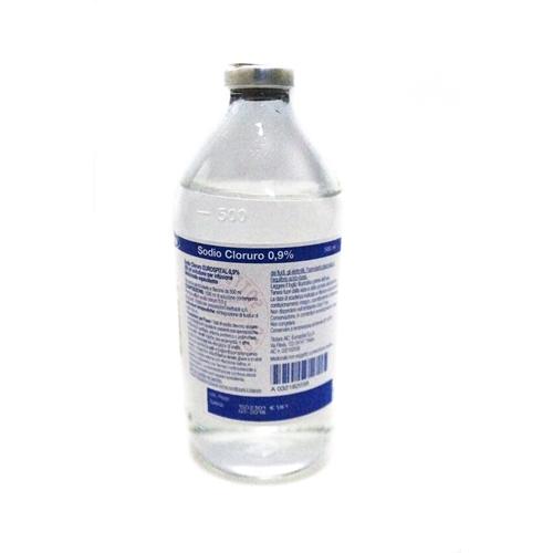 Sodio Cloruro Euros 0,9% 1 Flacone 500 Ml
