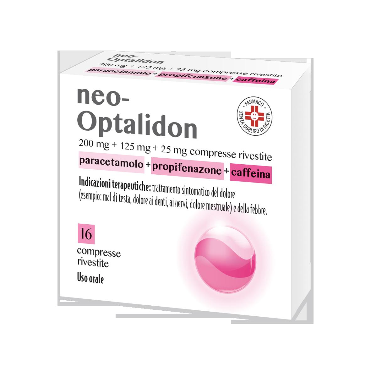 Neooptalidon Compresse Rivestite, 16 Compresse In Blister Pvc/Al