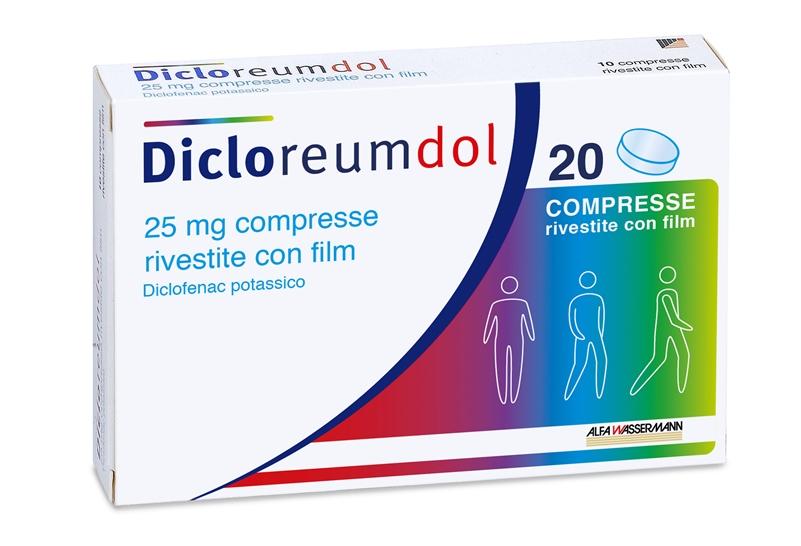 Dicloreumdol 25 Mg Compresse Rivestite Con Film 20 Compresse In Blister Pa/Pvc/Al
