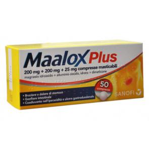 Maalox Plus Plus 200 Mg + 200 Mg + 25 Mg Compresse Masticabili 50 Compresse