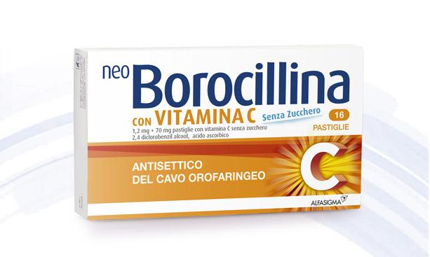 Neoborocillina C 1,2 Mg + 70 Mg Pastiglie Con Vitamina C Senza Zucchero 16 Pastiglie In  Blister Pvc-Pe-Pvdc/Al