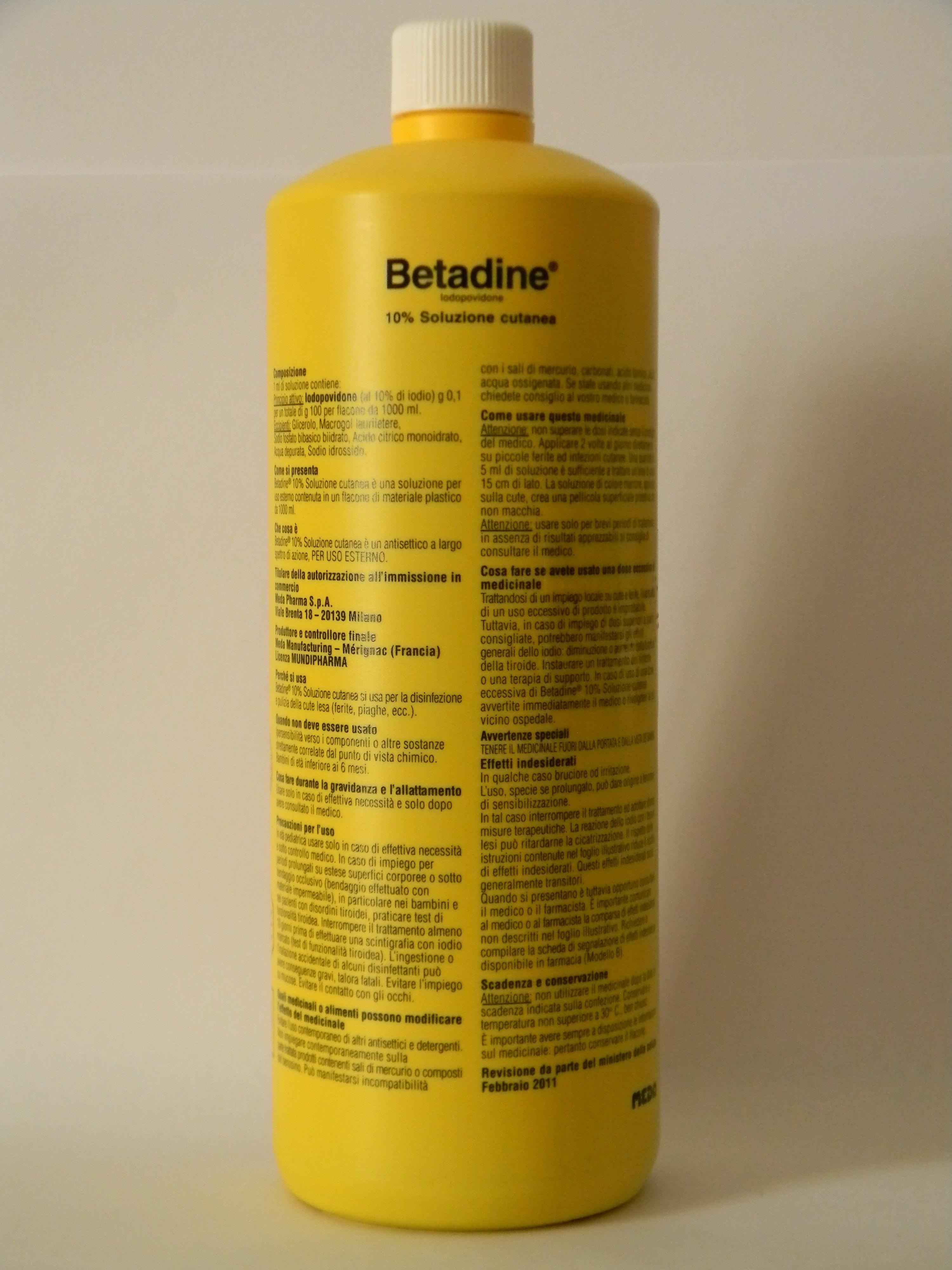Betadine 10% Soluzione Cutanea Flacone 1 Litro