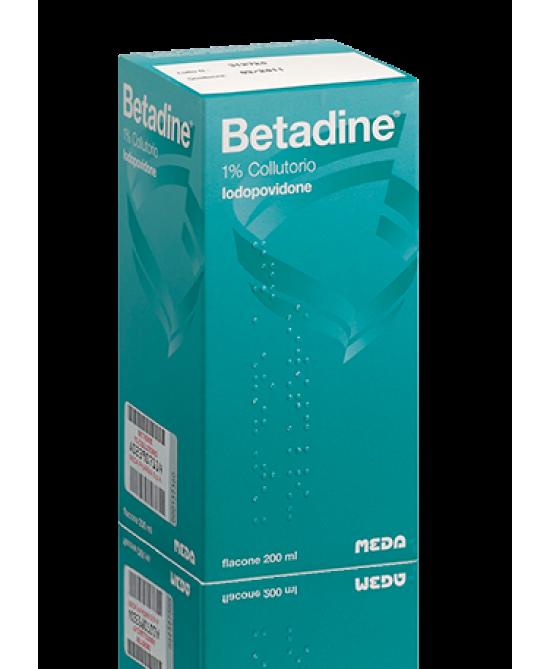 Betadine 1% Collutorio Flacone 200 Ml