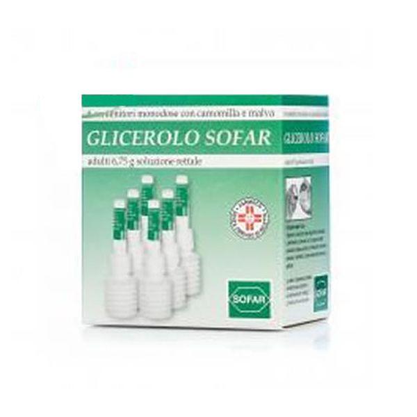 Glicerolo Sofar Adulti 6 75 G Soluzione Rettale 6 Contenitori Monodose Con Camomilla E Malva