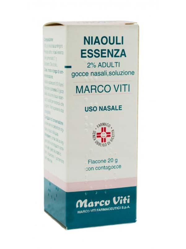 Niaouli Essenza Mv 2% Gocce Nasali, Soluzione Flacone 20 G