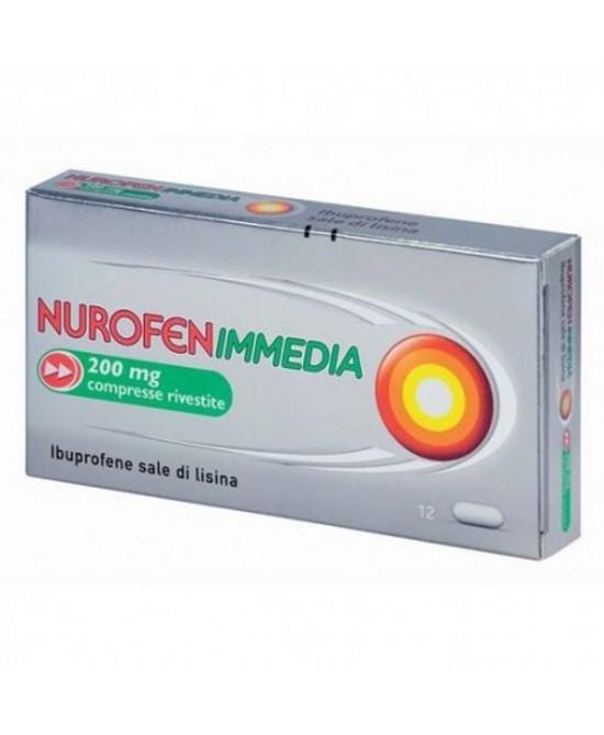 Nurofenimmedia 200 Mg Compresse Rivestite 12 Compresse