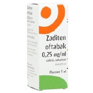 Zaditen Oftabak 0 25 Mg Ml Collirio Soluzione 5 Ml Flacone Multidose