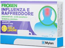 Froben Influenza Raf Polvere Per Soluzione Orale 10 Bustine Gusto Limone E Miele Da 4 G