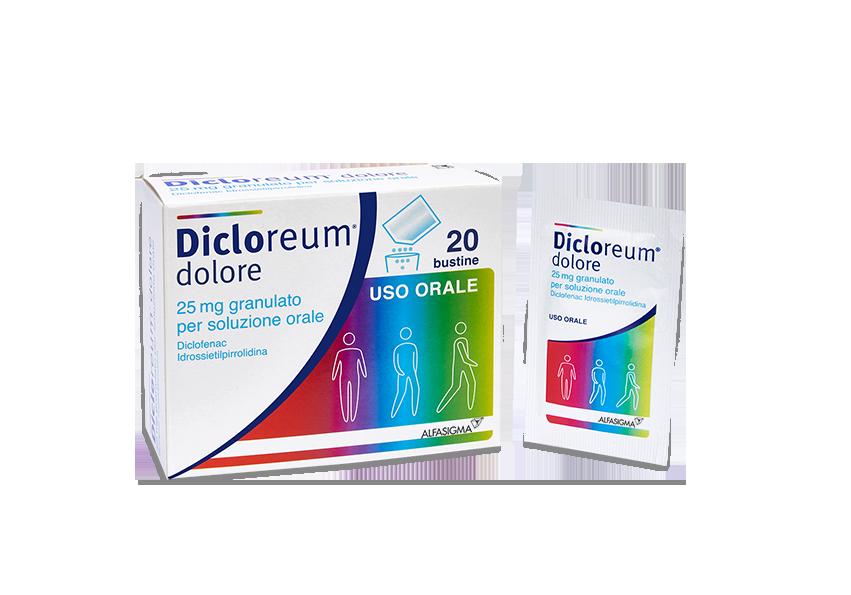 Dicloreum Dolore 25 Mg Granulato Per Sospensione Orale 20 Bustine