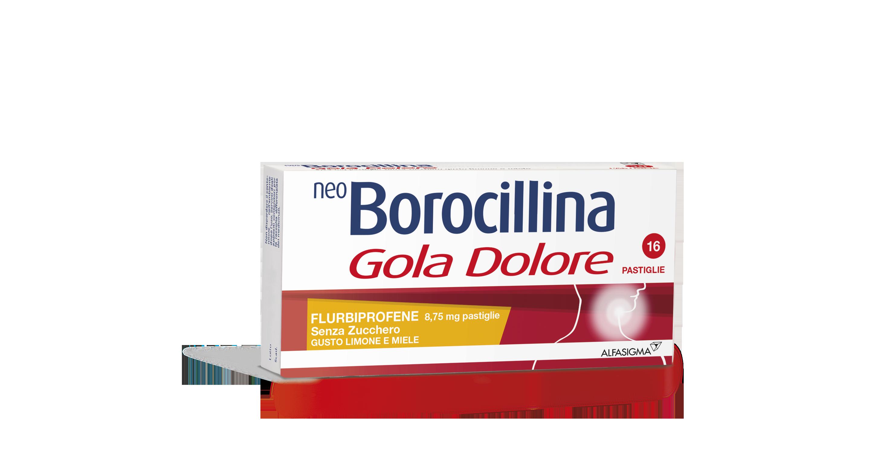 Neoboro Golado 8 75 Mg Pastiglie Senza Zucchero Gusto Limone E Miele 16 Pastiglie