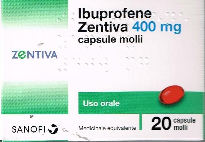 Ibuprofene Zen 400Mg Capsule Molli, 20 Capsule In Blister Pvc/Pvdc/Al