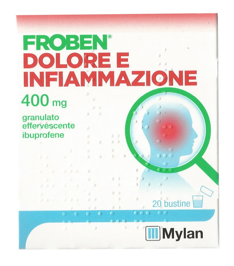 Froben Dolore E Infiamm 400 Mg Granulato Effervescente 20 Bustine In Carta Pe Al Pe