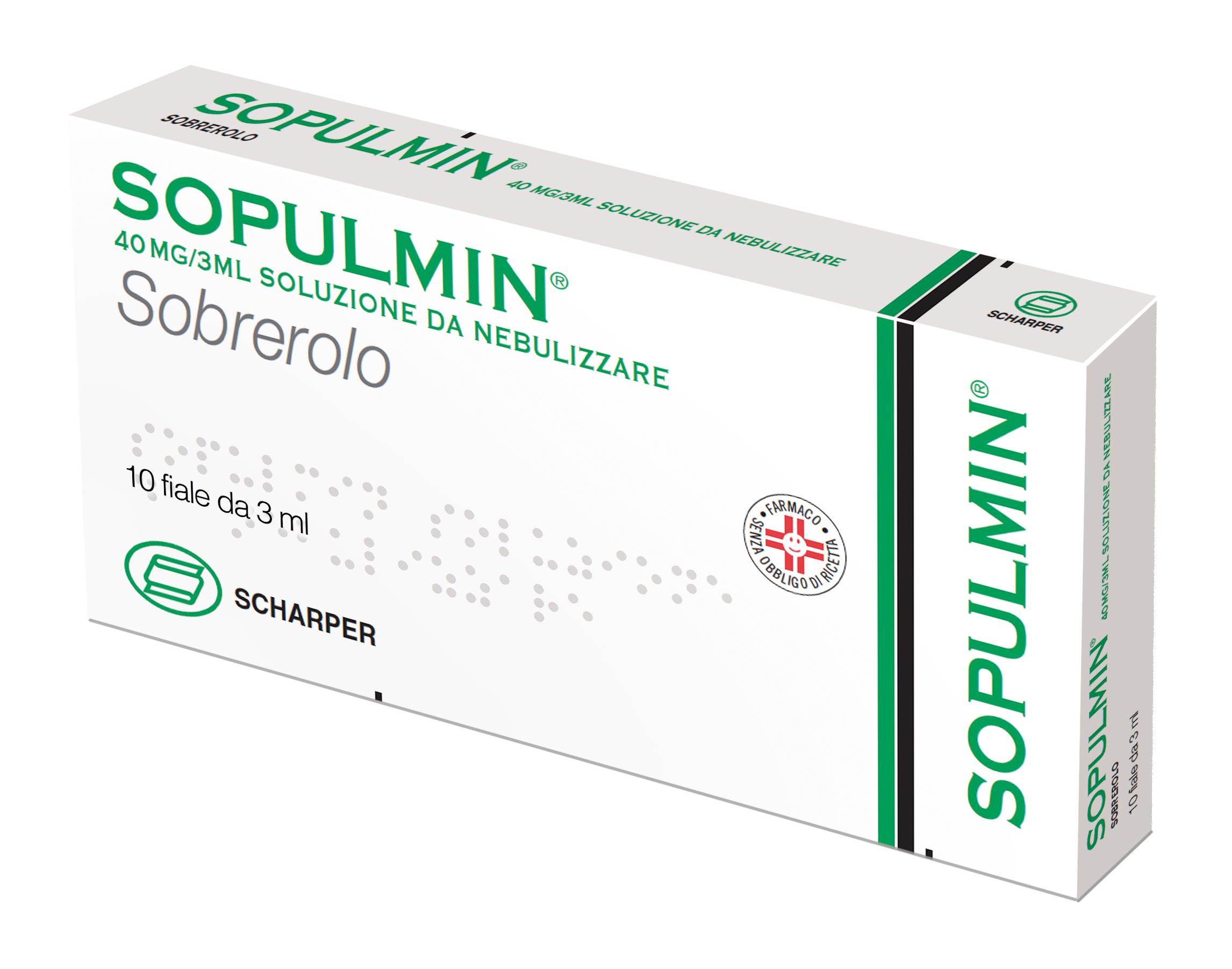 Sopulmin 40 Mg/3 Ml Soluzione Da Nebulizzare 10 Fiale 3 Ml