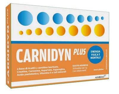 Alfasigma Carnidyn Plus 20 Bustine Da 5 G Gusto Arancia