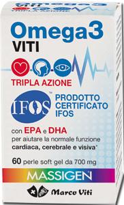 Marco Viti Farmaceutici Omega3 Viti Tripla Azione 60 Perle