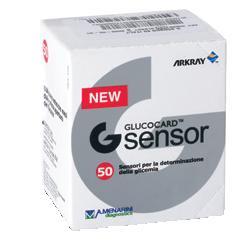 A.menarini Diagnostics Strisce Misurazione Glicemia Glucocard G Sensor 50 Pezzi