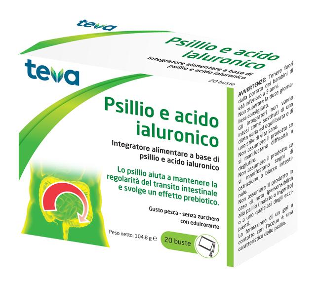 Teva Italia Psillio Acido Ialuronico Teva 20 Buste 104,8 G