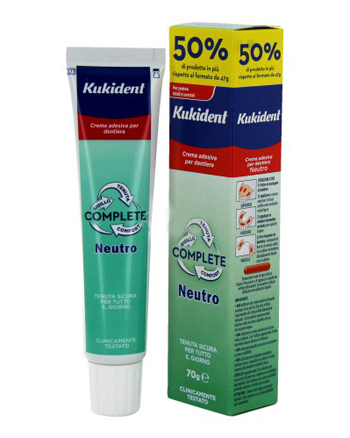 Procter & Gamble Kukident Neutro Complete Crema Adesiva Per Protesi Dentarie 70