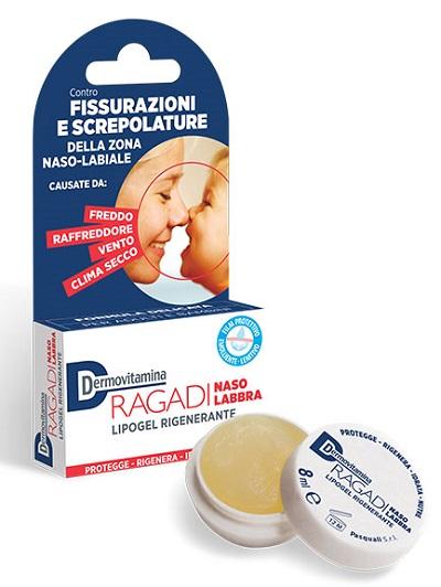 Pasquali Dermovitamina Ragadi Naso E Labbra Lipogel Riparatore 8 Ml