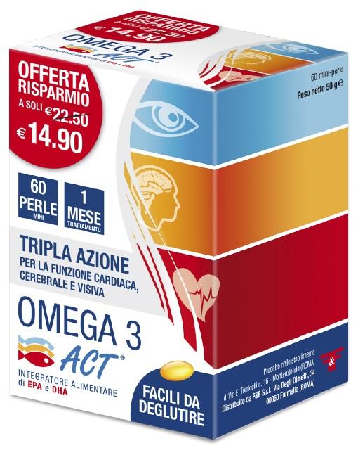 F&f Omega 3 Act 60 Perle 540 Mg