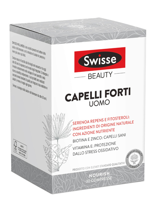 Health And Happiness (h&h) It. Swisse Capelli Forti Uomo 30 Compresse