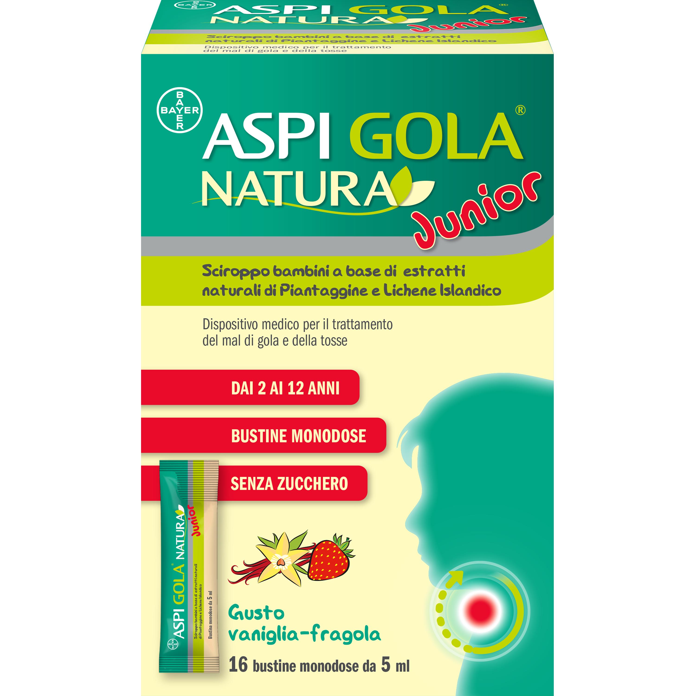 Bayer Aspi Gola Natura Junior 16 Bustine Monodose Da 5 Ml