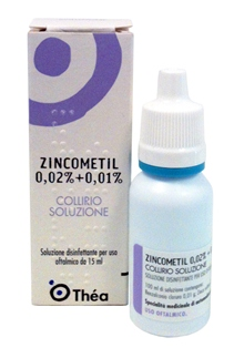 Zincometil 0,02% + 0,01% Collirio, Soluzione Flacone 15 Ml