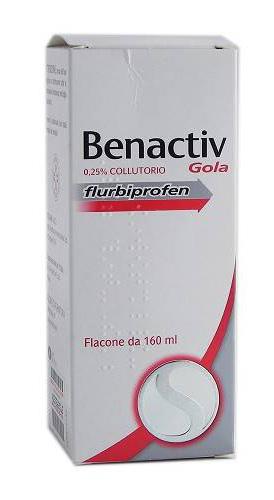 Benactiv Gola 0,25% Collutorio Flacone 160 Ml