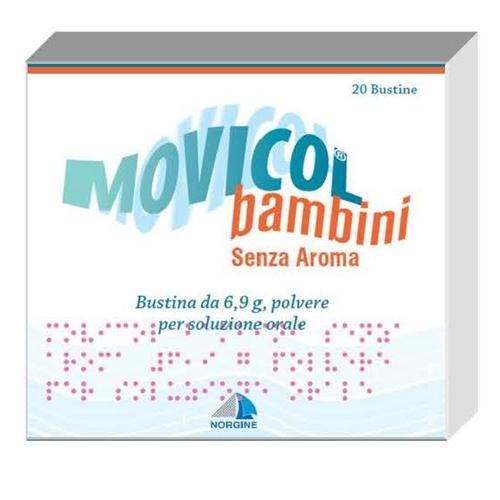 Movicol Bambini 6,9 G Polvere Per Soluzione Orale Senza Aroma 20 Bustine Ldpe/Al/Ldpe/Carta