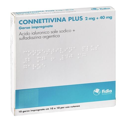 Connettivina Plus 2 Mg + 40 Mg Garze Impregnate 10 Garze Impregnate Cm 10 X 10