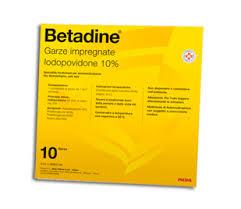 Betadine 10% Garze Impregnate 10 Garze